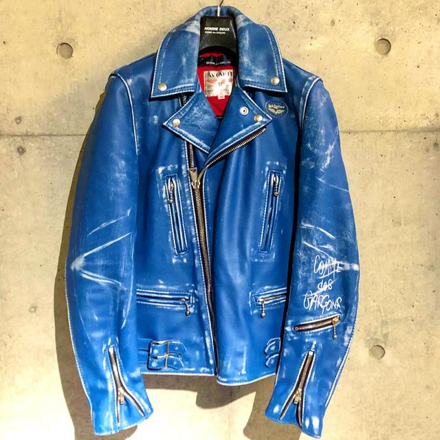 Lewis Leathers(ルイスレザー)の《青山限定廃盤モデル》コムデ ギャルソン ルイスレザー 36 メンズのジャケット/アウター(ライダースジャケット)の商品写真