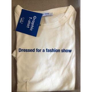 ザラ(ZARA)の新品!ZARA ロゴt ホワイト 白 ブルー(Tシャツ(半袖/袖なし))