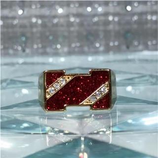 1点物 AAAランク ダイヤモンドcz 23号 リング 指輪 ゴールド(リング(指輪))