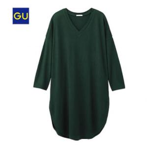 ジーユー(GU)のラウンドヘム ロング Tシャツ 7分袖(Tシャツ(長袖/七分))