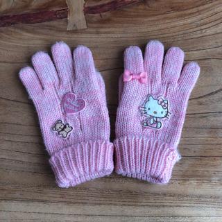 ハローキティ(ハローキティ)のハローキティ  手袋  ピンク(手袋)