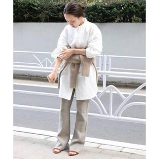 プラージュ(Plage)の2019ss ミディサテン オーバーシャツ ベージュ(シャツ/ブラウス(長袖/七分))