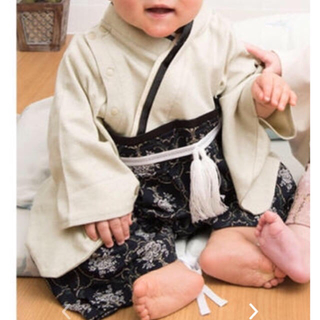ベビー袴 ロンパース 90(和服/着物)