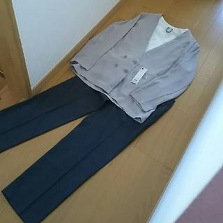 ジーユー(GU)のあんこさま新品G.UノーカラージャケットLサイズ卒業式入学式セレモニー(スーツ)