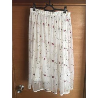 ジエンポリアム(THE EMPORIUM)の刺繍スカート(ひざ丈スカート)