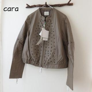 ディノス(dinos)の新品 Cara カーラ dinos ディノス レザー ジャケット コート(ノーカラージャケット)