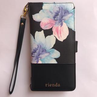 リエンダ(rienda)のrienda 手帳型スマホケース iPhoneケース(モバイルケース/カバー)