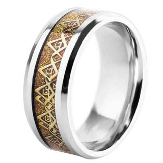 フリーメイソン 指輪 リング 秘密結社 都市伝説 で 話題 ゴールド (リング(指輪))