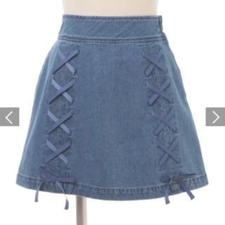 リズリサ(LIZ LISA)のリズリサ LIZLISA デニムストリングスカート(ミニスカート)