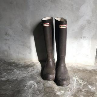 ハンター(HUNTER)のHUNTER ロング レインブーツ ブラウン 23.5㎝(レインブーツ/長靴)