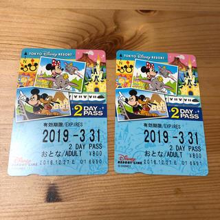 ディズニー(Disney)の未使用 ディズニー リゾートライン 2days(鉄道乗車券)