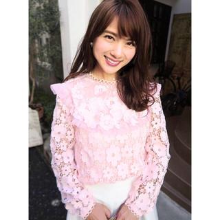 チェスティ(Chesty)のchesty チェスティ Flower Lace Blouse ピンク(シャツ/ブラウス(長袖/七分))