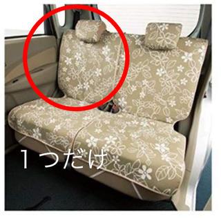 ボンフォーム シートカバー 軽自動車 後席用 中古 1つだけ(汎用パーツ)