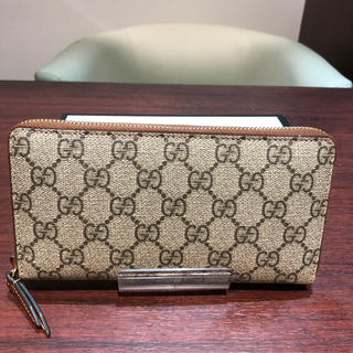 5c7a9d7eb86e グッチ(Gucci)の最新 グッチ GGスプリーム キャンバス 長財布 ジップアラウンドウォレット(