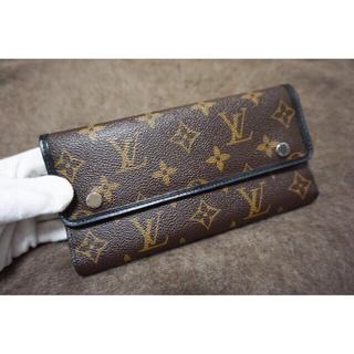 ルイヴィトン(LOUIS VUITTON)のLOUISVUITTON 三つ折り長財布 モノグラムマカサー メンズ(折り財布)
