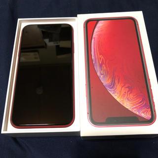 アイフォーン(iPhone)のiPhoneXR 64G Red 本体のみ(スマートフォン本体)
