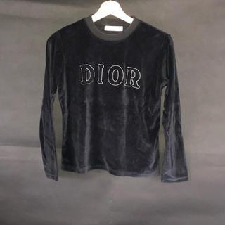 クリスチャンディオール(Christian Dior)のDior ベロア スウェット ビッグロゴ(トレーナー/スウェット)