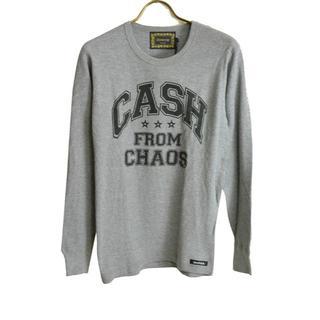 ドレストリップ(Drestrip)の新品 ドレストリップ CASHメッセージプリントサーマルカットソー M(Tシャツ/カットソー(七分/長袖))