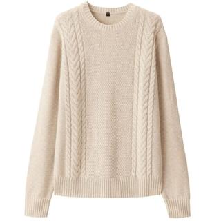 ムジルシリョウヒン(MUJI (無印良品))の無印良品 地柄編み クルーネックセーター(ニット/セーター)