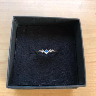 ノワールドプーペ ロイヤルブルームーンストーン、ダイヤリング(K10)11号(リング(指輪))