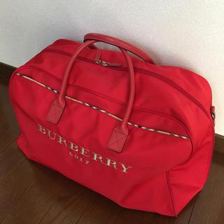 バーバリー(BURBERRY)のバーバリーゴルフ☆シューズ入れ付きボストンバッグ(バッグ)