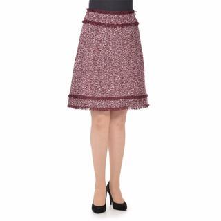 アネラリュクス(ANELALUX)のANELA LUX ツイードスカート 15号 バーガンディ タグ付き(ひざ丈スカート)