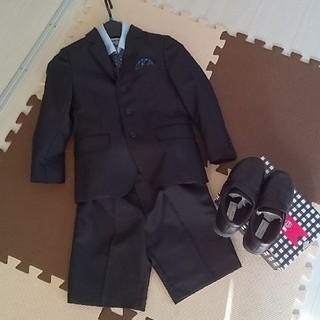シマムラ(しまむら)の美品 ☆ 入学式 スーツ 120 シューズ ☆ キッズフォーマル(ドレス/フォーマル)