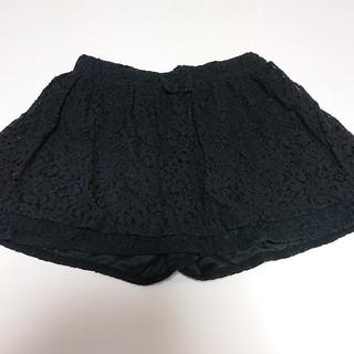 ジーユー(GU)のGU 黒レースキュロットスカート(スカート)