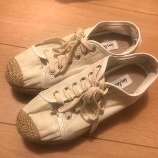 スタイルナンダ(STYLENANDA)のレディース シューズ 靴 インヒール ホワイト アイボリー STYLENANDA(スニーカー)