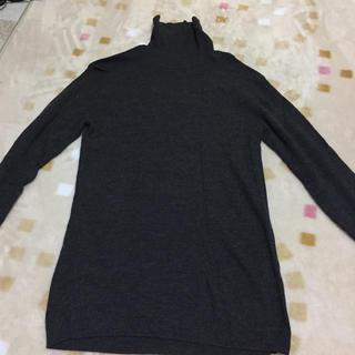 ムジルシリョウヒン(MUJI (無印良品))のタートルネックニット 無印良品洗えるニット グレー(ニット/セーター)