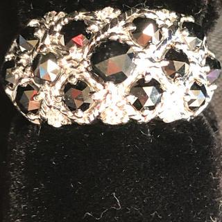 K18WGローズカットブラックダイヤモンドリング(リング(指輪))