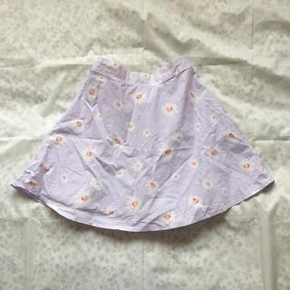 メリージェニー(merry jenny)のフレアスカート 花柄(ひざ丈スカート)