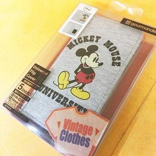 ディズニー(Disney)のミッキー 多機種対応 フリップ サイズM DN279B(Androidケース)