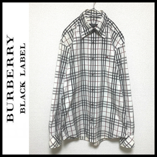 バーバリーブラックレーベル(BURBERRY BLACK LABEL)のBURBERRY BLACK LABEL 隠しボタンダウン ノバチェックシャツ(シャツ)