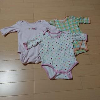 ニシマツヤ(西松屋)の長袖 ロンパース 3枚セット 70(肌着/下着)