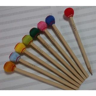 マレット鉛筆 5本 マリンバ木琴バチ型(パーカッション)