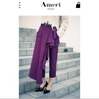 アメリヴィンテージ(Ameri VINTAGE)の【新品タグ付き】Ameri VINTAGE フレア ラッフル チノパンツ(チノパン)