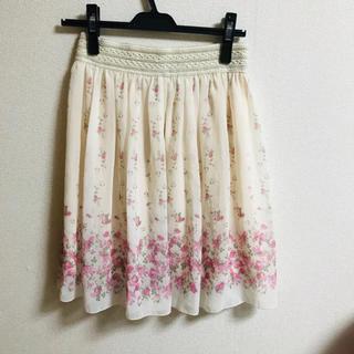 「新品」花柄スカート(ひざ丈スカート)