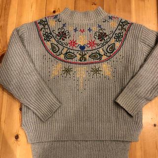 セレクト(SELECT)のセレクトモカ   刺繍ニット(ニット/セーター)