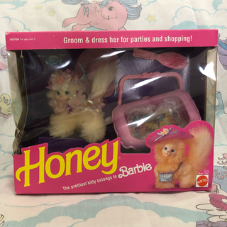 バービー(Barbie)のHoney バービーペット ホワイトキャット(ぬいぐるみ)