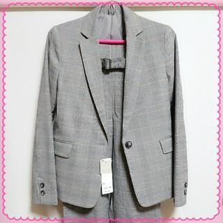 ジーユー(GU)のスーツセットアップ/GU■グレー グレンチェック ジャケット パンツ (スーツ)