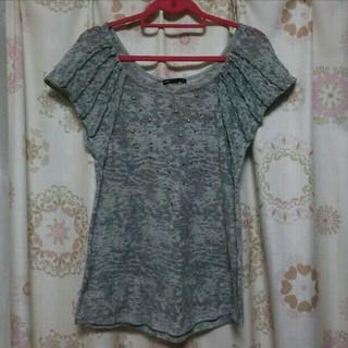 マンゴ(MANGO)のMANGO  スタッズ付き カットソー(Tシャツ(半袖/袖なし))