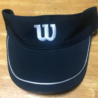 ウィルソン(wilson)のウィルソン サンバイザー 黒 テニス ゴルフ(その他)