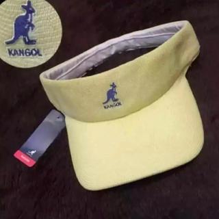 カンゴール(KANGOL)の新品!◾︎KANGOL サンバイザー◾︎ ロゴ刺繍カンゴールダンスヒップホップ黄(サンバイザー)