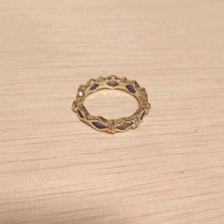 ブルー系ひし形モチーフリング 新品未使用(リング(指輪))