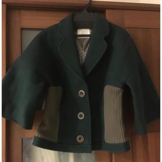 ミナペルホネン(mina perhonen)の新品 サリースコット  ショートコート ジャケット 9号(テーラードジャケット)