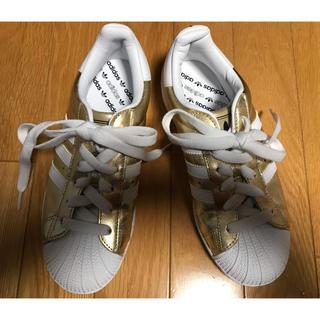 アディダス(adidas)のアディダス スニーカー ゴールド レディース 22.5(スニーカー)