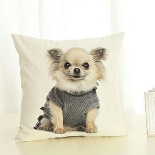 チワワ ちわわクッションカバー♪ 新品未使用品 送料無料♪ 002(犬)