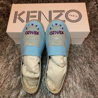 ケンゾー(KENZO)のKENZO ケンゾー スリッポン 靴 35 水色 ライトブルー(スリッポン/モカシン)