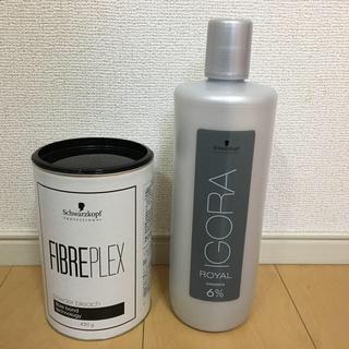 シュワルツコフ ファイバープレックス ブリーチ&オキシ6%&グッバイイエロー2本(ブリーチ剤)